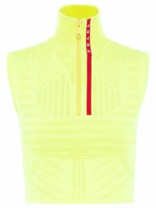 Prada technical sleeveless jumper - Yellow