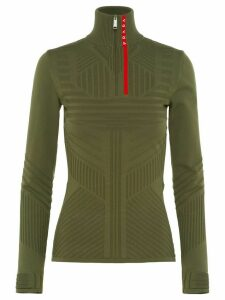 Prada technical jacquard jumper - Green