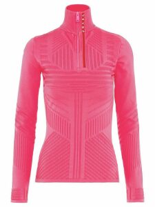 Prada Linea Rossa technical jacquard-knit top - PINK