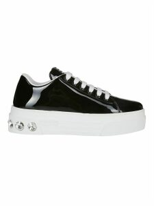 Miu Miu Crystal Lace-up Sneakers