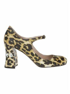 Miu Miu Animal Print Buckle Pumps