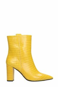 The Seller High Heels Ankle Boots In Yellow Leather