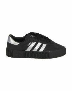 Adidas Originals Black And Silver Sambarose Sneakers