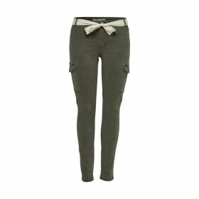 Cotton Mix Cargo Trousers with Belt