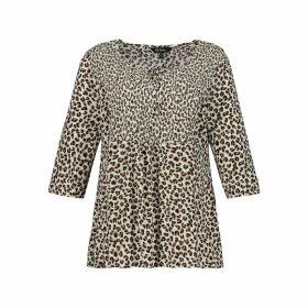 Leopard Print V-Neck Blouse