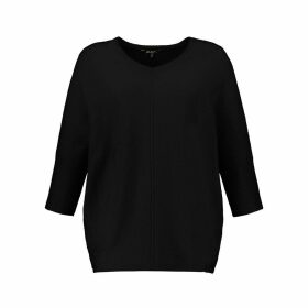 Long Crew Neck Jumper in Fine Knit