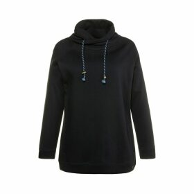 High Neck Sweatshirt in Cotton Mix