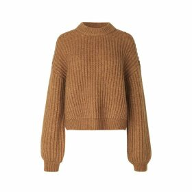Short Knit Crewneck Sweater