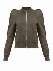 Rick Owens - Zionic Puff-shoulder Cashmere Bomber Jacket - Womens - Grey
