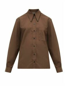 Lemaire - Pointed Collar Cotton Shirt - Womens - Khaki