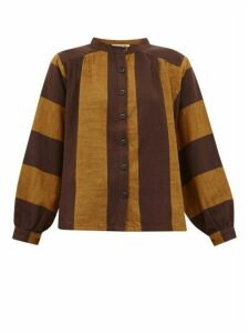 Ace & Jig - Barret Striped Cotton Blouse - Womens - Brown Multi