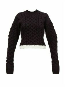 Joseph - Cable-knit Wool-blend Sweater - Womens - Black