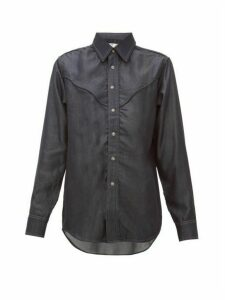 Eytys - Dallas Topstitched Tencel-chambray Shirt - Womens - Denim