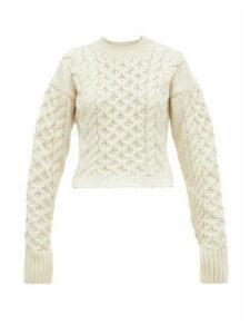 Joseph - Cable-knit Wool-blend Sweater - Womens - Cream