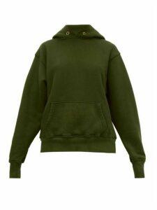 Les Tien - Classic Fleece Backed Cotton Hooded Sweatshirt - Womens - Khaki
