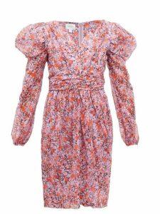 Giambattista Valli - Floral-print Silk-georgette Dress - Womens - Pink Multi