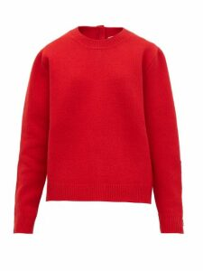 No. 21 - Crystal Embellished Wool Blend Sweater - Womens - Red