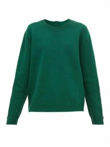 No. 21 - Crystal Embellished Wool Blend Sweater - Womens - Green