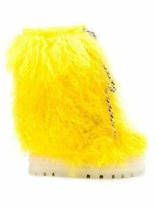 Casadei fur snow boots - Yellow