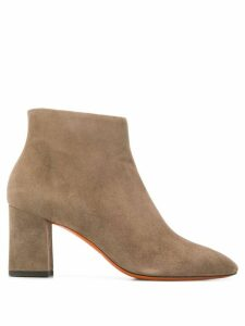 Santoni pointed toe ankle boots - Grey