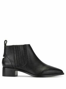 Senso Leighton lizard-effect boots - Black