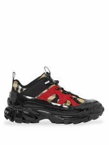 Burberry Vintage Check Cotton and Nylon Arthur Sneakers - Black