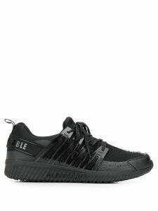 Plein Sport logo stripe slip-on sneakers - Black