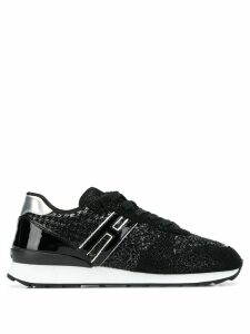 Hogan Wear2Go glitter sneakers - Black