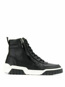 Diesel Hi-top leather sneakers - Black