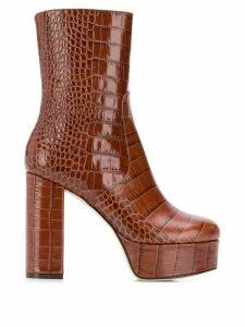 Paris Texas platform ankle boots - Brown