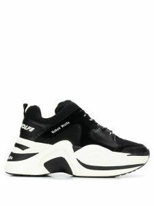 Naked wolfe logo print low-top sneakers - Black