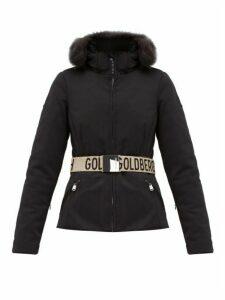 Goldbergh - Hida Faux-fur Trim Hooded Jacket - Womens - Black