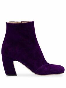 Miu Miu Suede booties - Purple