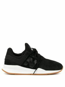 New Balance logo patch low top sneakers - Black