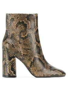 Ash snake print ankle boots - Brown