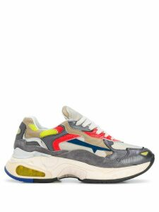 Premiata panelled low-top sneakers - Neutrals