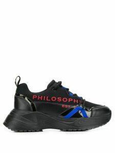 Philosophy Di Lorenzo Serafini logo printed chunky sneakers - Black