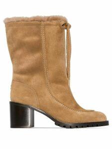 Jimmy Choo Buffy 65mm shearling boots - Neutrals