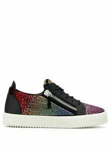 Giuseppe Zanotti Doris rhinestone-embellished sneakers - Black