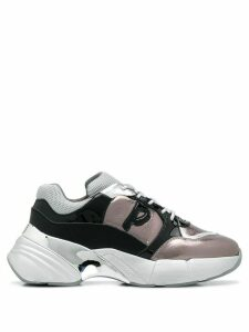 Pinko colour blocked chunky low top sneakers - Grey