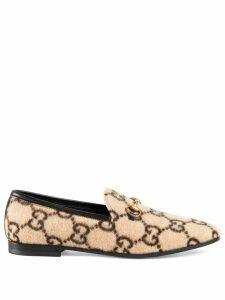 Gucci monogram Horsebit loafers - Neutrals