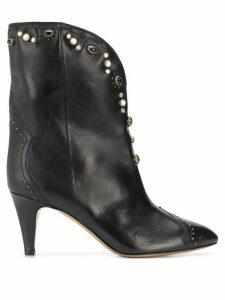 Isabel Marant Dythey 75mm embellished ankle boots - Black