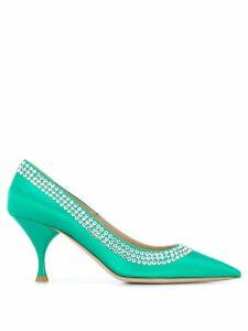 Miu Miu rhinestone embellished pumps - Green