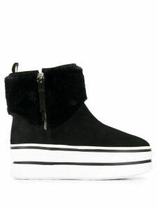 Hogan Donna flatform boots - Black