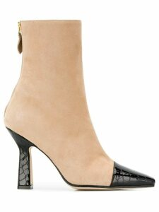 Paris Texas contrasting toe ankle boots - NEUTRALS