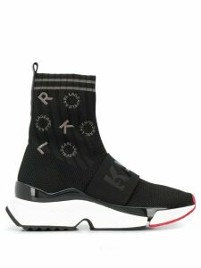 Karl Lagerfeld Aventur embroidered logo sneakers - Black