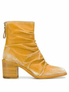 Premiata ruched ankle boots - Yellow