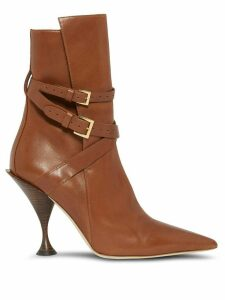 Burberry point-toe ankle boots - Brown
