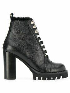 Philipp Plein star studded ankle boots - Black