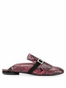 Les Petits Joueurs snakeskin slippers - Pink